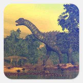 Ampelosaurus dinosaurs square sticker