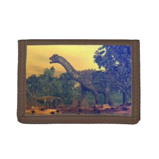 Ampelosaurus dinosaurs tri-fold wallet