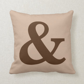 """Ampersand """"&"""" Accent Throw Pillow"""