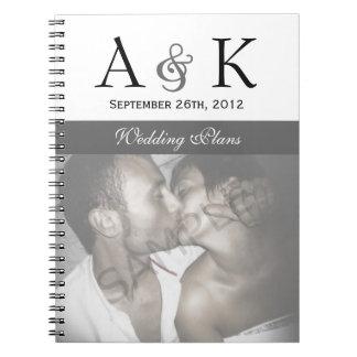 Ampersand Elegance: Gray Wedding Notebook