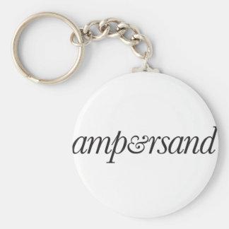 Ampersand Key Ring