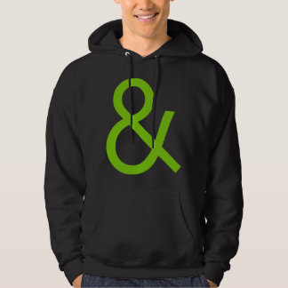 Ampersand - Martian Green on Dark Hoodie