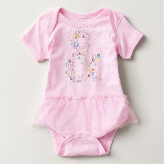 Ampersand pastels baby bodysuit