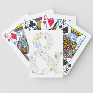 Ampersand pastels bicycle playing cards
