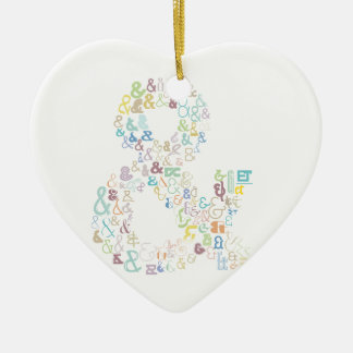 Ampersand pastels ceramic ornament