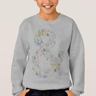 Ampersand pastels sweatshirt