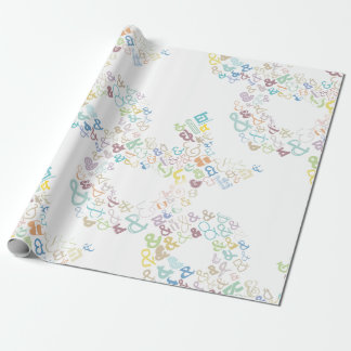 Ampersand pastels wrapping paper