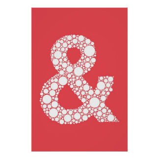 Ampersand Poster (and symbol) Watermelon Red