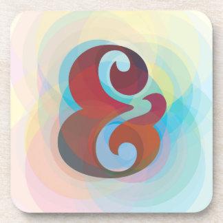 Ampersand Rainbow Coaster Set  Home Decor