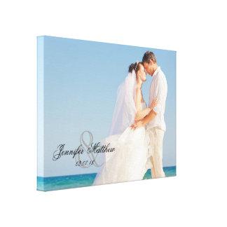 Ampersand Wedding Photo Keepsake Canvas Canvas Prints