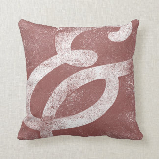 Ampersand White on Marsala Throw Pillow