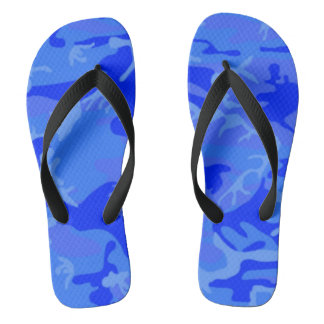 Amphibian style camo thongs