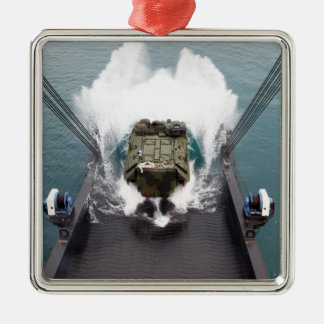 Amphibious assault vehicles disembark from USNS Metal Ornament