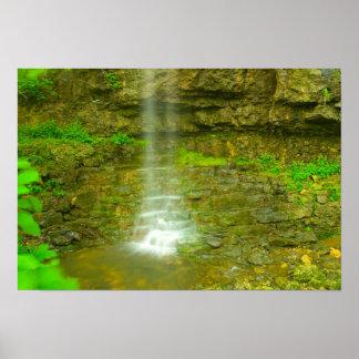 Amphitheater Falls, John Bryan state park, Ohio Poster