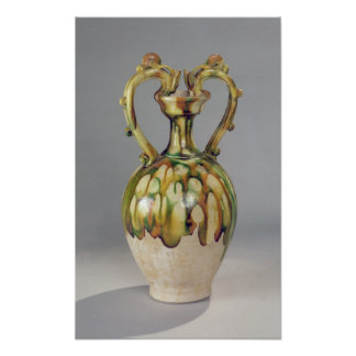 Amphora with handles in the form of dragon poster