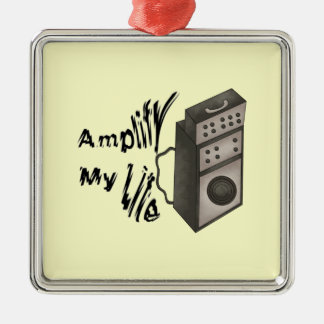 Amplify My Life Silver-Colored Square Decoration