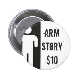 AMPMANlargedouble, Arm Story$10 6 Cm Round Badge