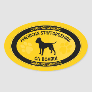 Amstaff Crossing [Xing] Oval Sticker