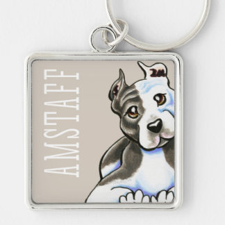 Amstaff Lean on Me (Type) Key Ring