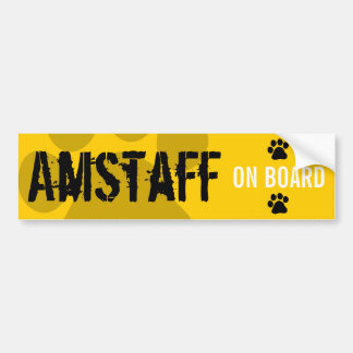 Amstaff on Board Bumper Sticker