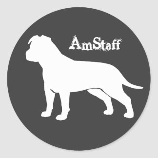 AmStaff with Floppy Ears Classic Round Sticker