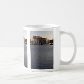 Amstel River and Amsterdam Music Hall Coffee Mug