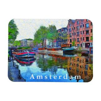 Amsterdam. A quiet harbor. Magnet