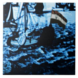 Amsterdam Antique Ships Delftware Vintage Look C5 Tile