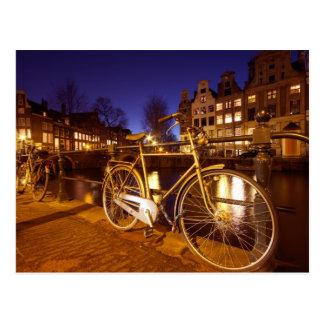 Amsterdam at night  in Amsterdam Netherlands Postcard