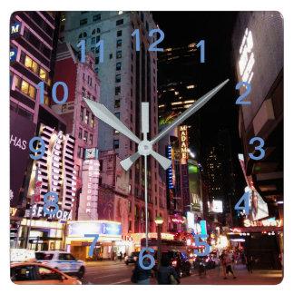 Amsterdam Avenue New York City 2017 Square Wall Clock