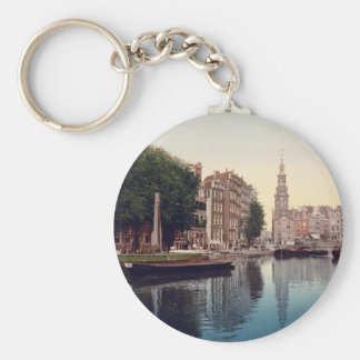 Amsterdam Basic Round Button Key Ring