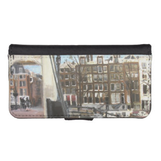 Amsterdam Bridge and Canal Houses Fine Art iPhone 5 Wallet Case
