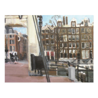 Amsterdam Bridge and Canal Houses Fine Art Post Cards