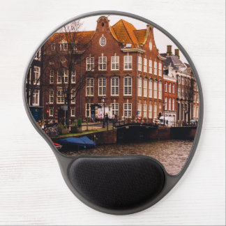 Amsterdam Canal and Architecture Gel Mousepad