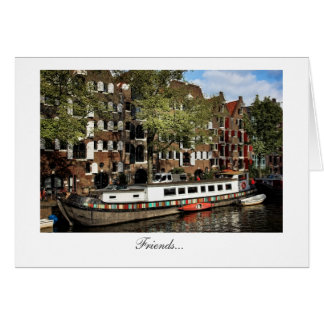 Amsterdam Canal Barge - Friends Greeting Card