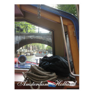 Amsterdam Canal Cruise Postcard