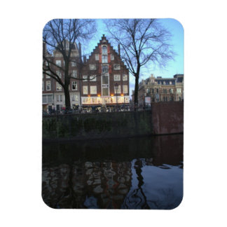 Amsterdam Canal Houses Rectangular Photo Magnet
