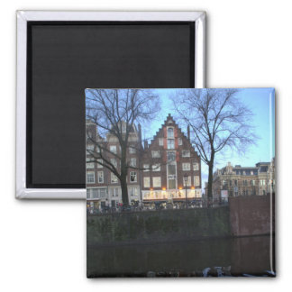 Amsterdam Canal Houses Square Magnet