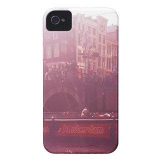 amsterdam canal view with cruise boat Case-Mate iPhone 4 cases