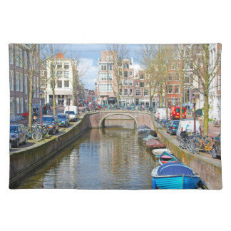 Amsterdam Canal with boats Placemat