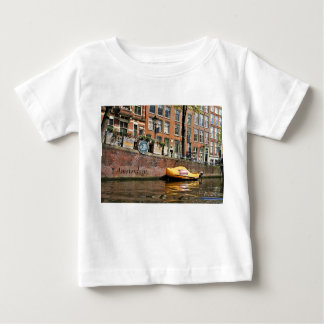 Amsterdam, Canal, Wooden Shoe Boat Baby T-Shirt