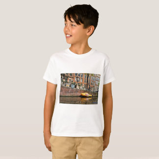 Amsterdam, Canal, Wooden Shoe Boat T-Shirt