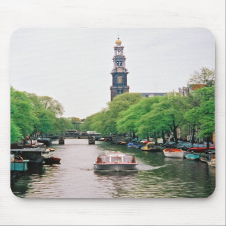 Amsterdam Canalboat Mousepad