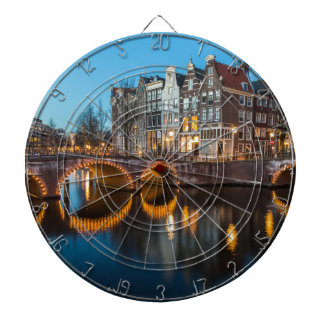 Amsterdam Canals at Night Dartboards