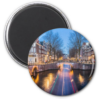 Amsterdam Canals at Night Magnet