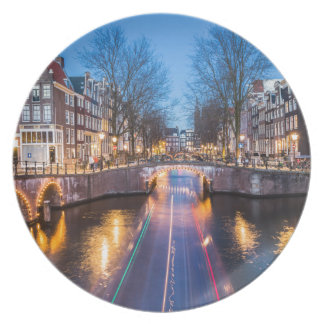 Amsterdam Canals at Night Plates