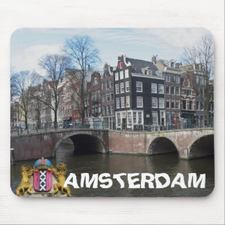 Amsterdam Canals & Bridges Photo Mousepad