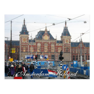 Amsterdam Central Train Station Postcard