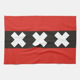 amsterdam city flag towel holland netherlands