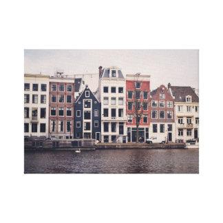 Amsterdam city houses canvas print